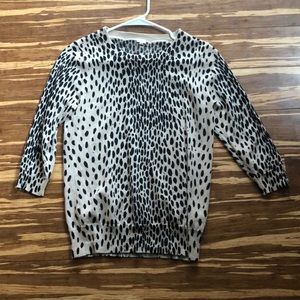 Cheetah Print J. Crew Shirt